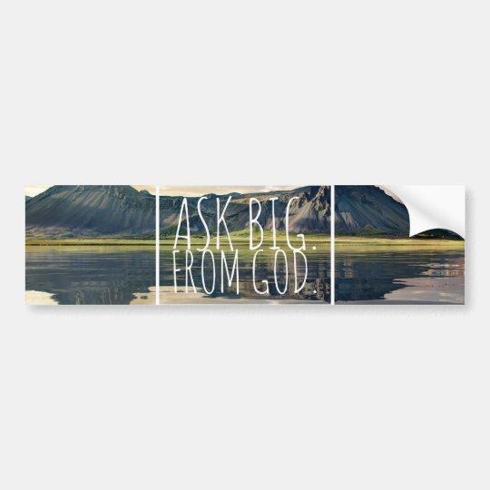 Car Sticker | Auto Aufkleber Ask big from God