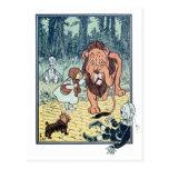 Caractères vintages de magicien d'Oz, route jaune  Cartes Postales