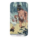 Caractères vintages de magicien d'Oz, route jaune Coques Galaxy S5