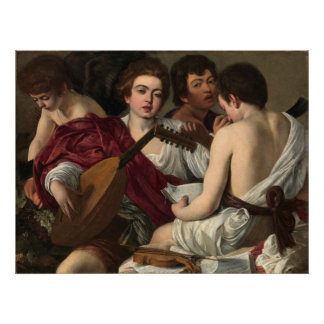 Caravaggio die Musiker Poster