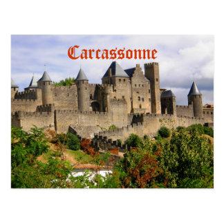 Carcassonne-Festung in Frankreich Postkarte
