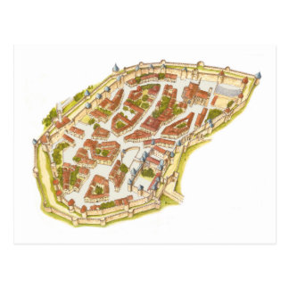 Carcassonne Frankreich. Luftaufnahme Postkarte