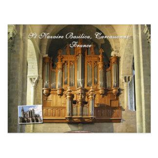 Carcassonne-Organ Postkarte
