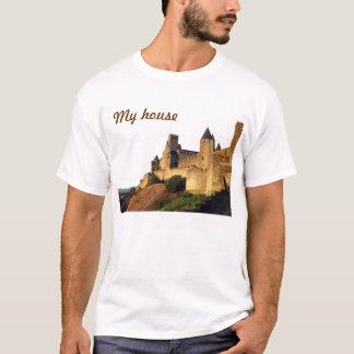 Carcassonne-Schloss-lustiges T-Shirt