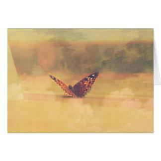 card rêveur de papillon cartes de vœux