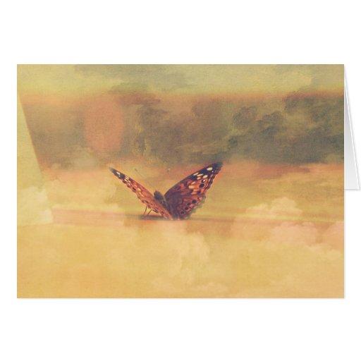 *card* rêveur de papillon cartes de vœux