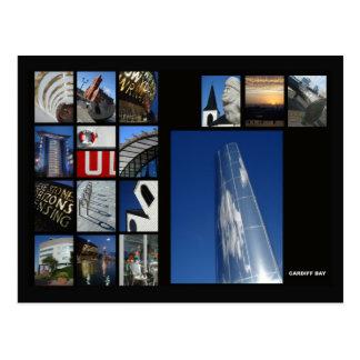 Cardiff-Buchtpostkarte Postkarte