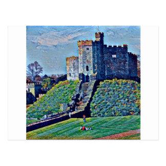 Cardiff-Schloss Postkarte