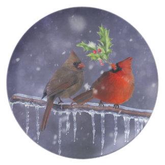 Cardinals von Weihnachten Teller