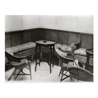 Cardington, Luftschiff R101, Raucherzimmer Postkarte
