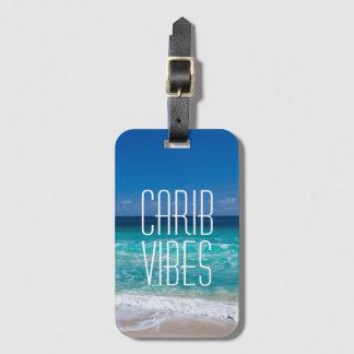 Carib-Schwingungens-tropisches Gepäckanhänger