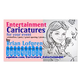 Caricatures de divertissement carte de visite standard