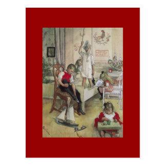 Carl Larsson-Weihnachtsmorgen 1894 Postkarte
