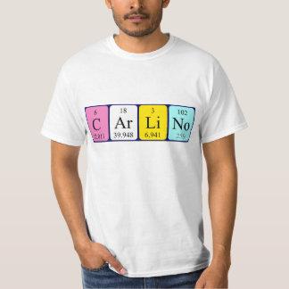 Carlino Namen-Shirt periodischer Tabelle T-Shirt