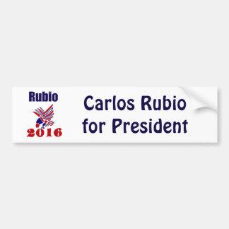 Carlos Rubio für Präsidenten Political Art Autoaufkleber