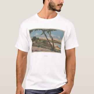 Carmel, CA - Häuser entlang der Ufer-Ansicht T-Shirt