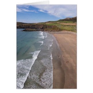 Carn Llidi und Whitesands Bucht Wales Grußkarte