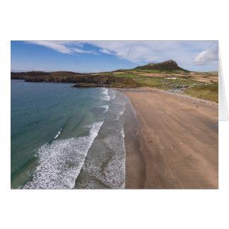 Carn Llidi und Whitesands Bucht Wales Karte