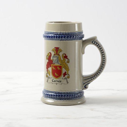 Carnes Wappen Stein - Familienwappen Bierglas