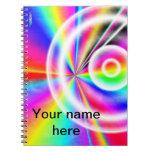 Carnet d'éclat d'arc-en-ciel (personnalisable)