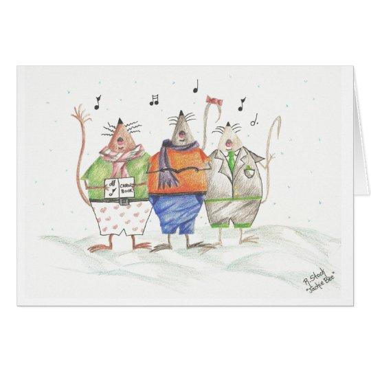 Caroling Mäusegruß-Karte Grußkarte
