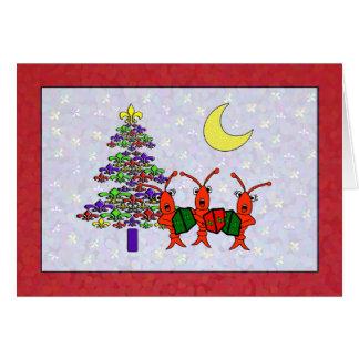 Caroling Panzerkrebs-Lilien-Weihnachten Grußkarte