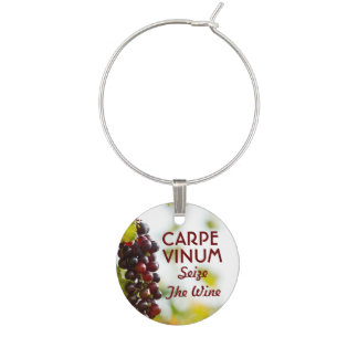 Carpe Vinum ergreifen den Wein Glasmarker