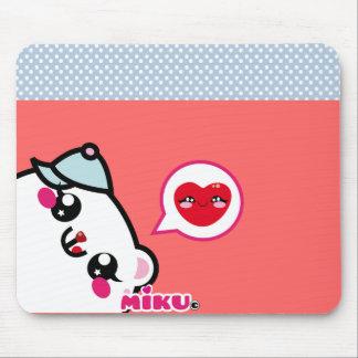 carpette Miku love pink Tapis De Souris