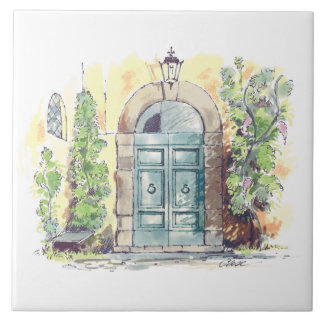 Carreau de céramique de porte de villa
