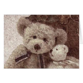 Carroll-Teddybär-Karte Karte