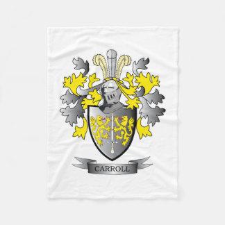 Carroll-Wappen Fleecedecke