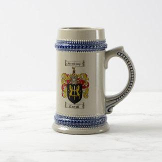 Carroll-Wappen Stein/Carroll-Familienwappen Bierglas