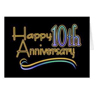 Carte 10ème anniversaire heureux