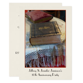 Carte 10ème Bible de cru d'invitation de fête