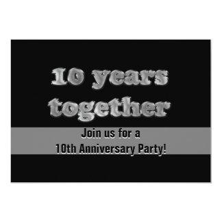 Carte 10ème Fête d'anniversaire   10 ans ensemble