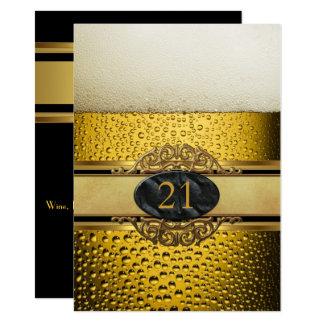 Carte 21ème Équipe la fête d'anniversaire noire d'or de