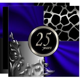 Carte 25ème Le bleu | tout d'anniversaire occasionne