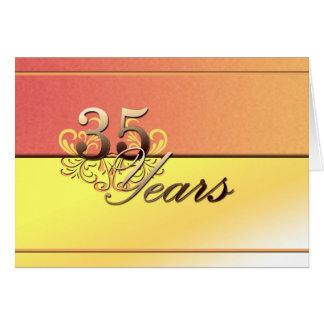 Carte 35 ans (anniversaire de mariage)