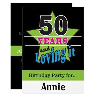 Carte 50 ans et l'aimer ! cinquantième anniversaire de |