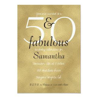 Carte 50 et or fascinant fabuleux
