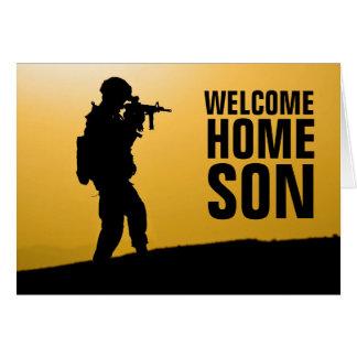Carte à la maison de Welcom de soldat