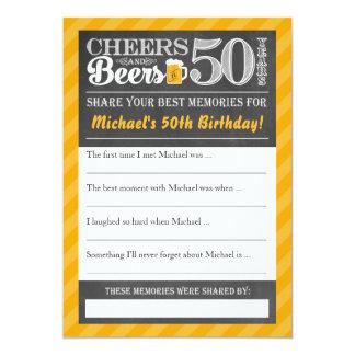 Carte Acclamations et bières à 50 ans • Partagez une