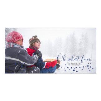 Carte Ah, quel Noël ou Hanoukka Photocard d'amusement