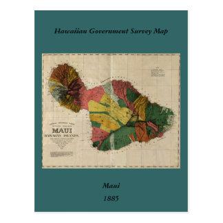 Carte ancienne vintage d'enquête de Maui - Hawaï,