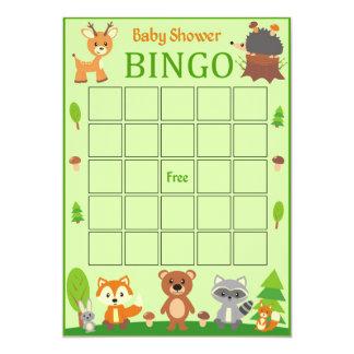 Carte animale de bingo-test de baby shower de