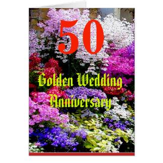 Carte Anniversaire de mariage 50 d'or avec une chanson