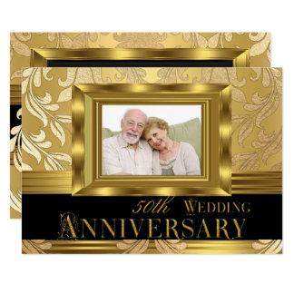 Carte Anniversaire de mariage de photo cinquantième de