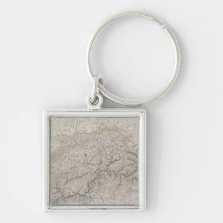 Carte antique de la Suisse Porte-clé