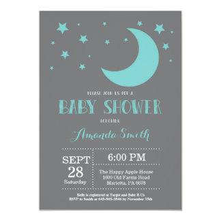 Carte Au-dessus de l'invitation Auqa de baby shower de