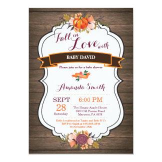 Carte Automne rustique dans l'invitation de baby shower